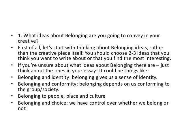 Essays on belonging