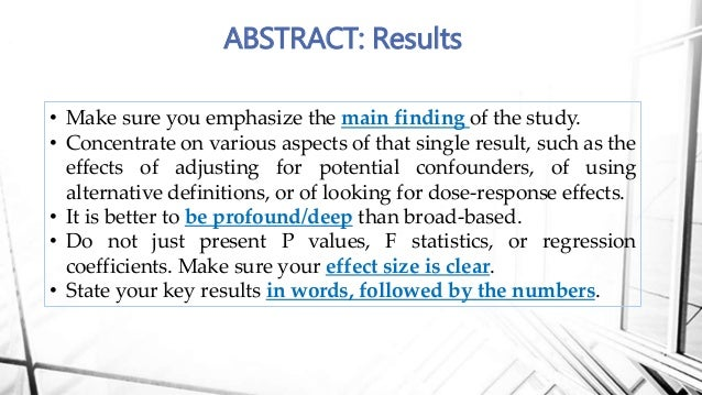 how to write the results part of a research paper