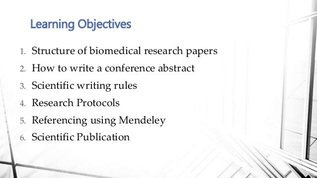 Biomedical Engineering how to write a rsearch paper