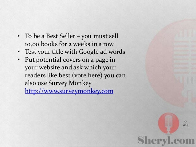 How to write and sell a book