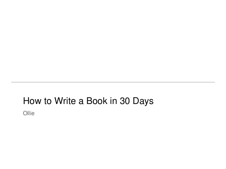 How to write a book in 30 days   salsabeela