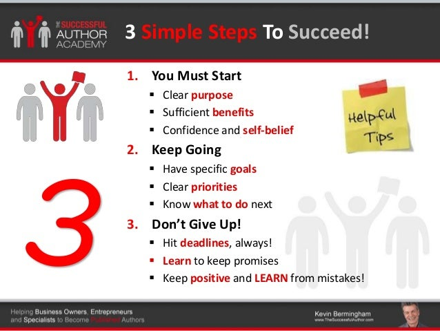 The steps to writing a book