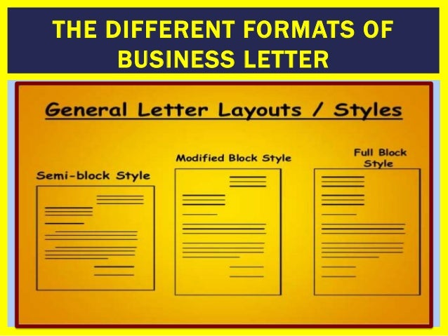 Different Format Of Business Letter - free business letter ...