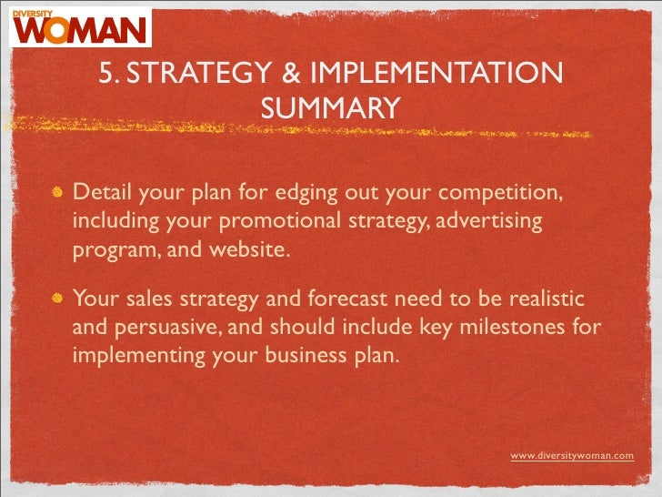 Business plan implementation strategy