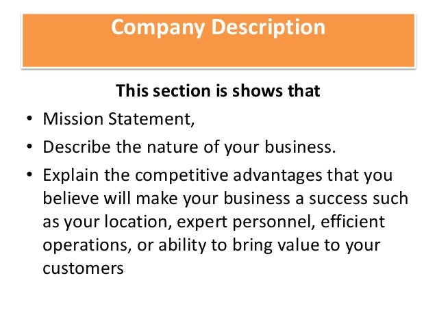 Main Sections Of A Business Plan