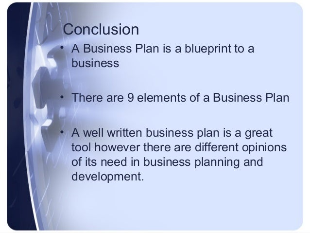 Conclusion of business plan