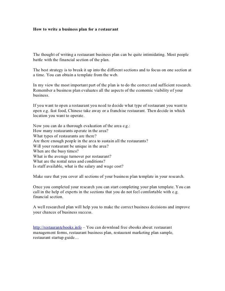 Restaurant business plan writer need a paper written