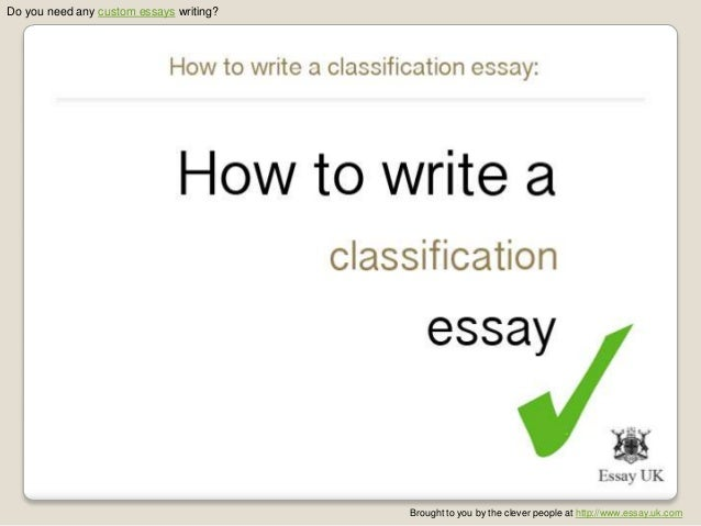 Classification Essay Examples