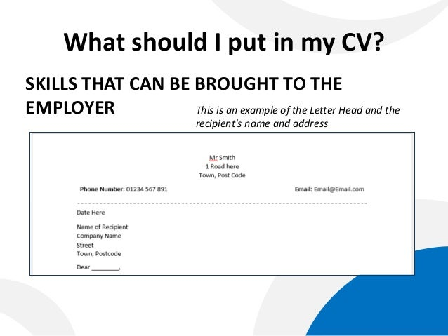 what should i put in my cv skills that can