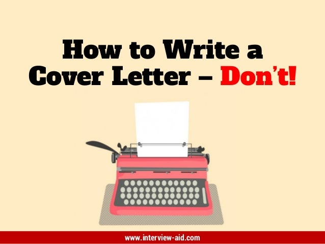 T write a cover letter