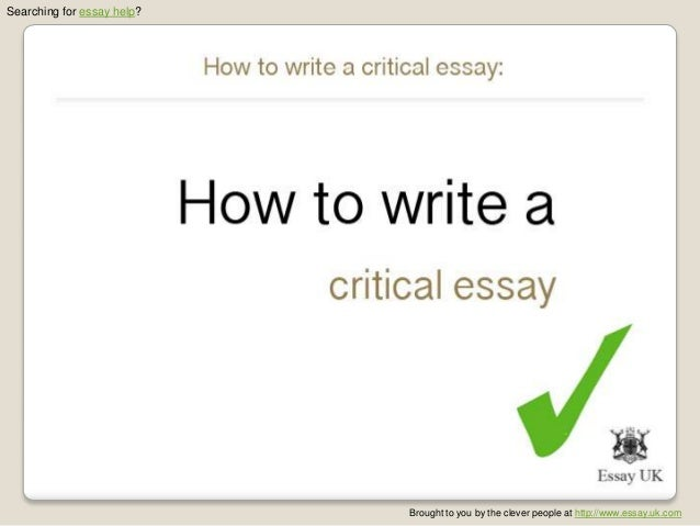 How to write critical essay