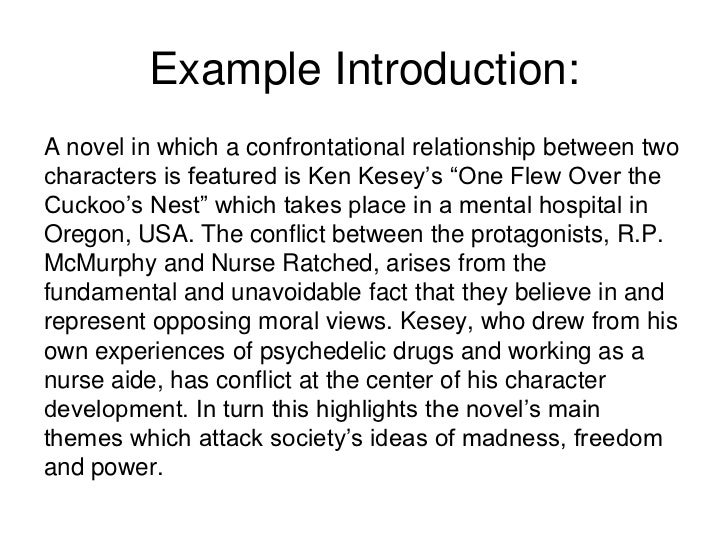 writing an introduction to a essay