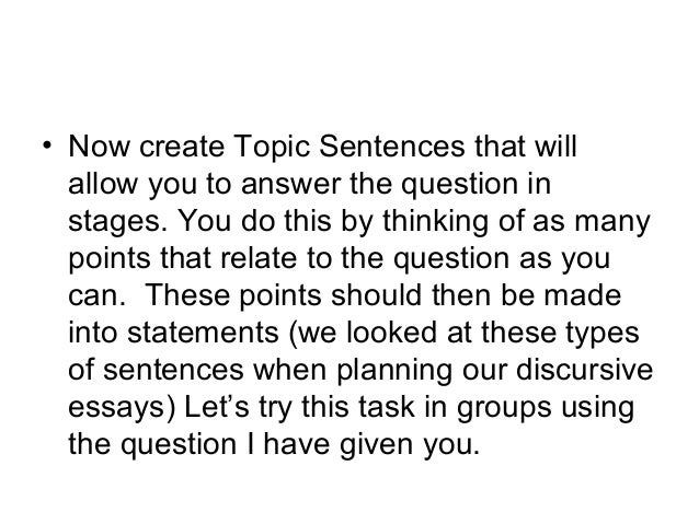 Write a critical essay