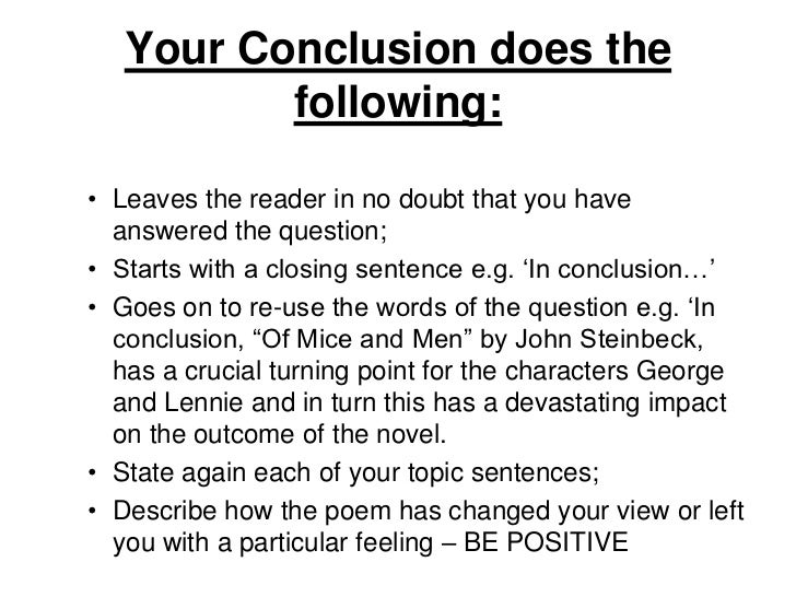 How To Do A Conclusion
