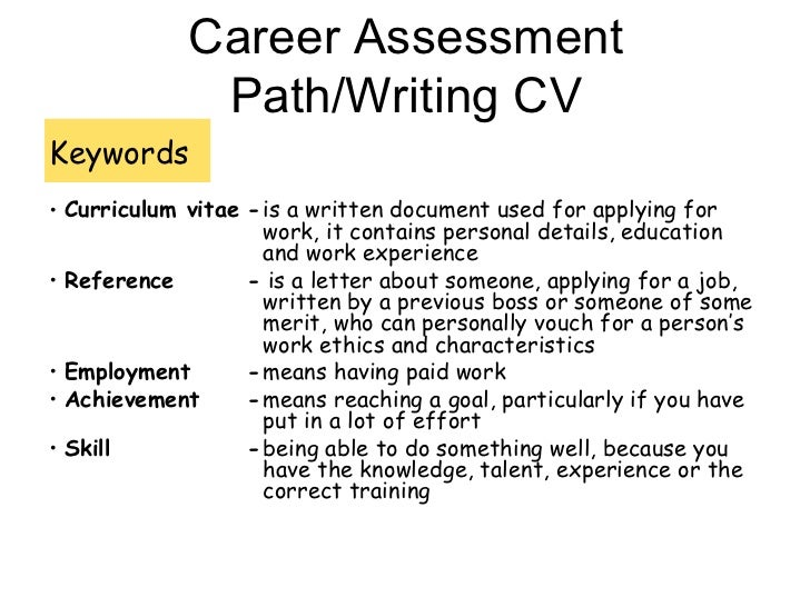 How to write in a CV ?