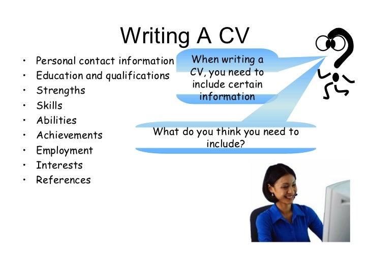 Do u write a cv