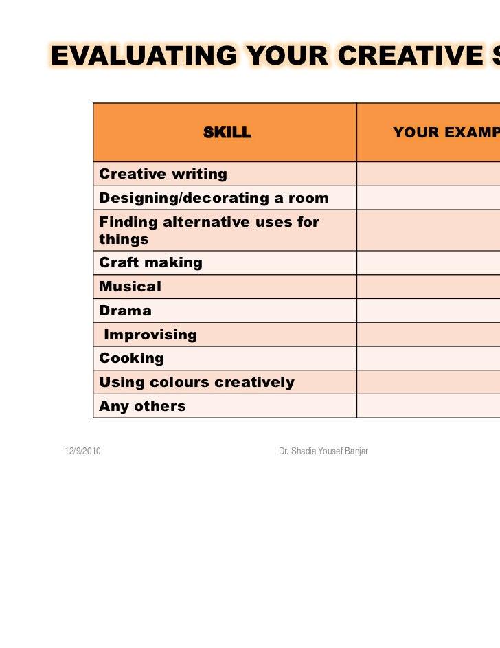 creative writing cv