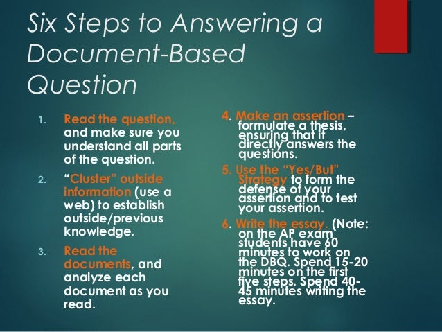 apush dbq thesis help Dbq essay outline guide use the following outline to plan and write your essays, in response to a document based question (dbq) the format is similar to a frq (free response question) sub thesis - one of the reasons of proof you offered in your thesis.