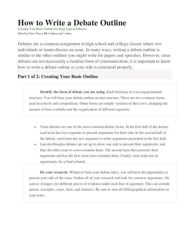 Debate Essay Outline Debate Outline College Essay Essaysforstudent Com