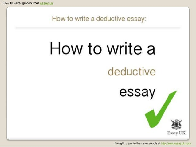 Deductive essay