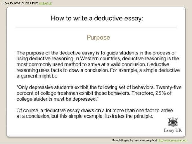 deductive argument essay example deductive argument essay example