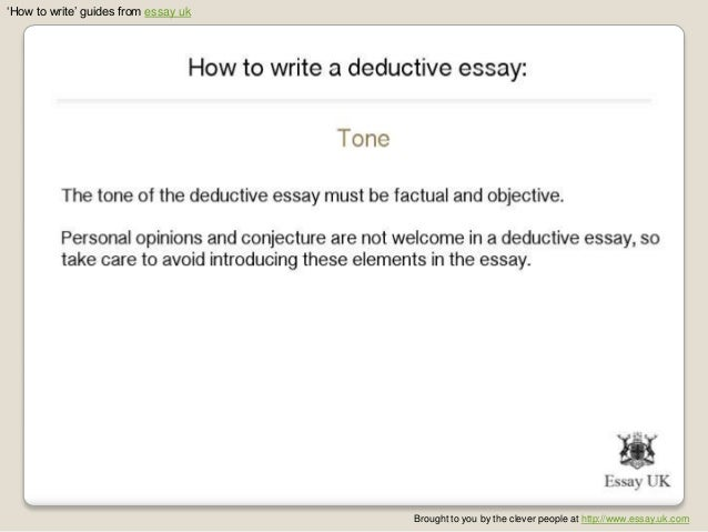 Deductive essay structure