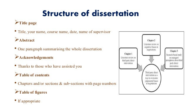 Dissertation Report Structure