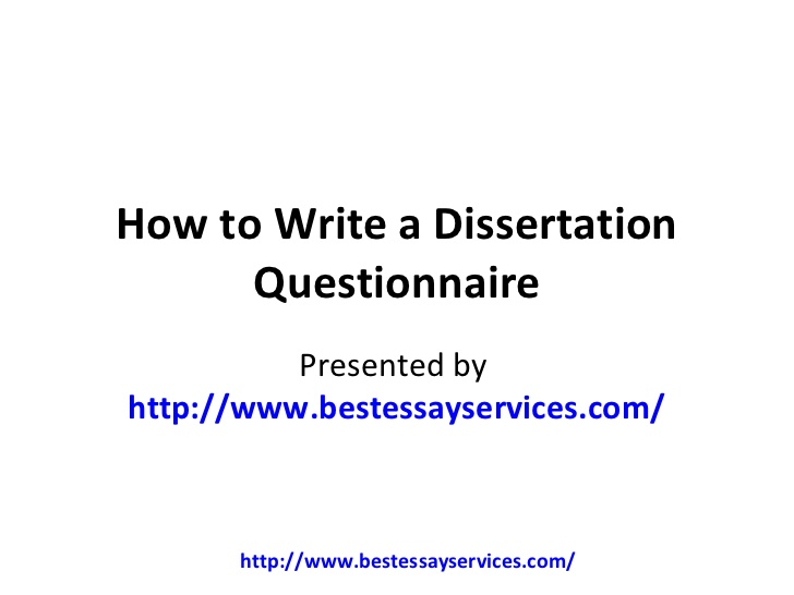 write dissertation