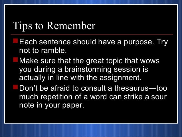 How to remember essays