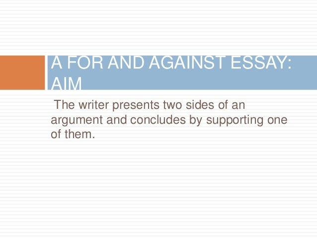 Is it a good idea to write an essay supporting two sides of the argument?