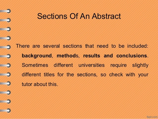 How to write a research abstract
