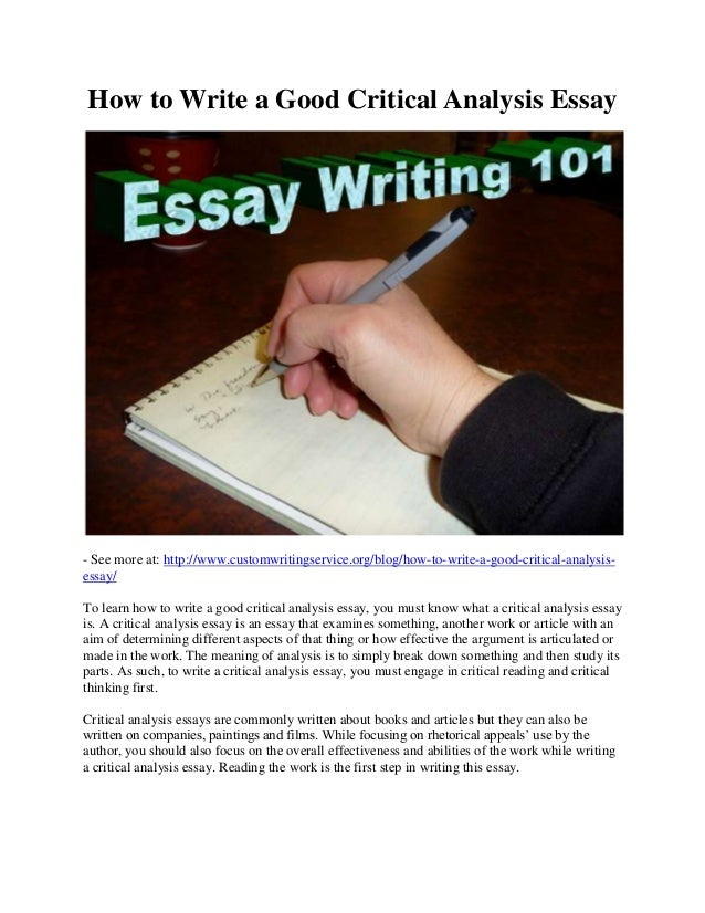 steps writing analytical essays