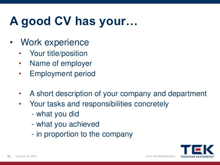 How To Write A Good Cv And Cover Letter .