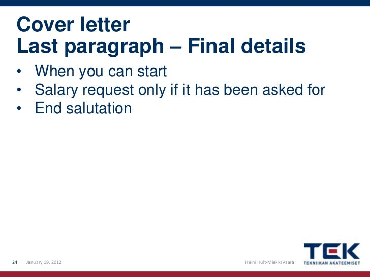 cover letter cashier canada - Good Way To End A Cover Letter