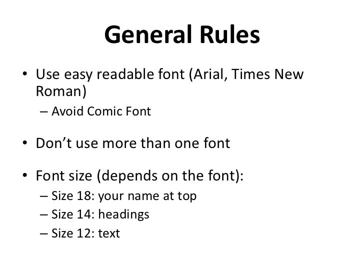 The Best Resume Font Size And Type Font Resume Resume Resume Font Size Resume  Resume Format  Good Font For Resume