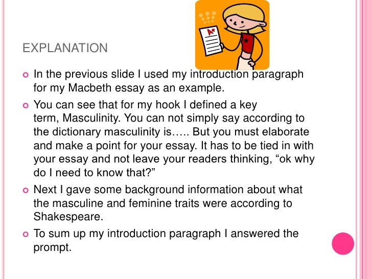 introductory paragraph macbeth essay An introductory paragraph is the most important part of an essay or any other type of writing learn what makes an effective opening and read examples.