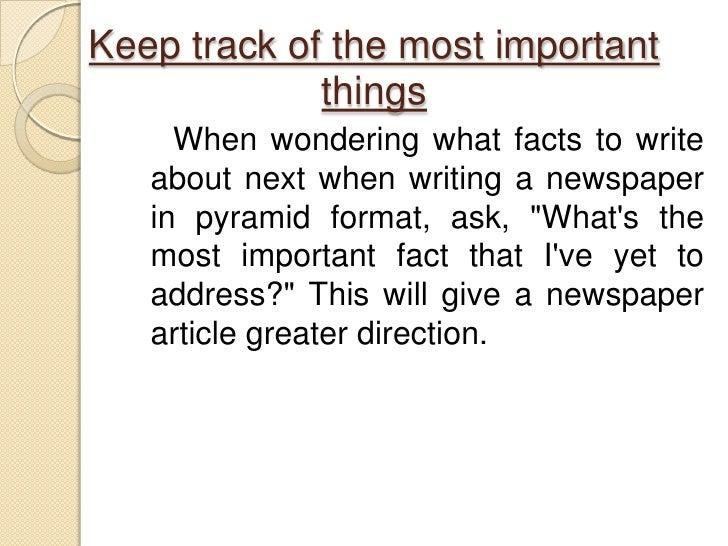 write a newspaper article