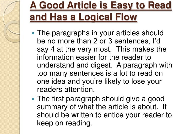 How to write a good newspaper article
