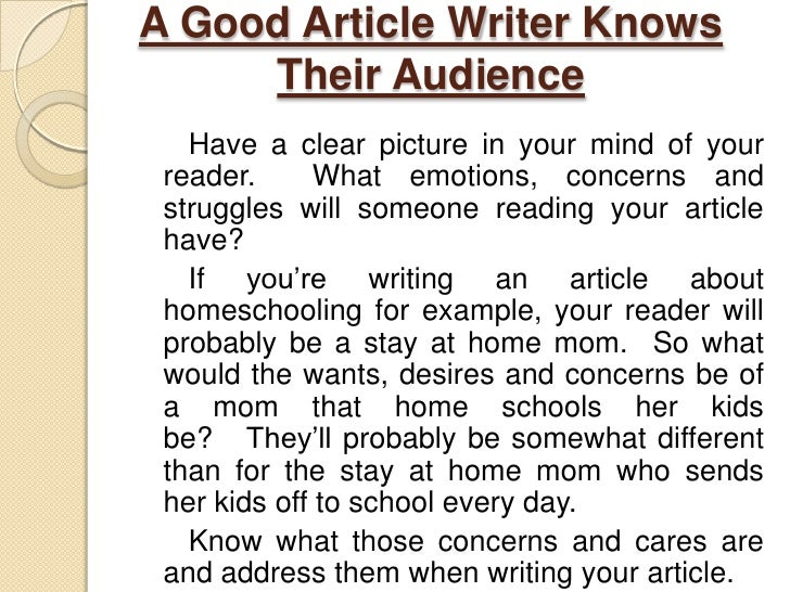 Writing an article for a magazine