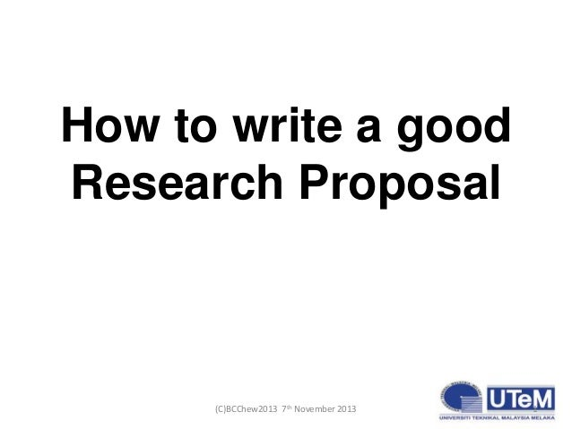 How to write a good thesis research