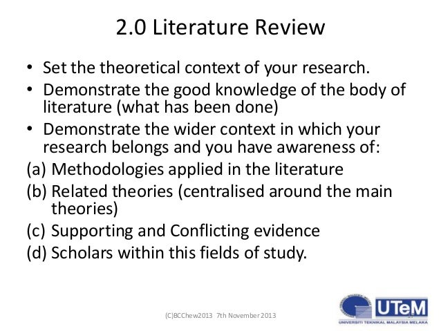 Tips on writing a literature review please?