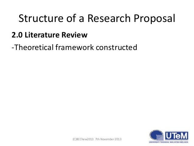 Framework Research Proposal of a Research Proposal 2.0
