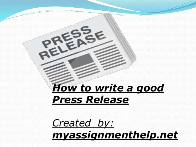 How to write a good press release for a book