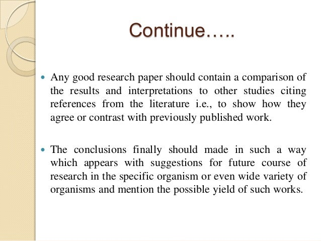 in included paper research should This article describes how to write a good computer architecture abstract for both conference and journal papers writers should this section should include.