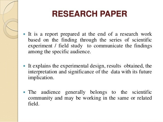 tips on writing a good research paper