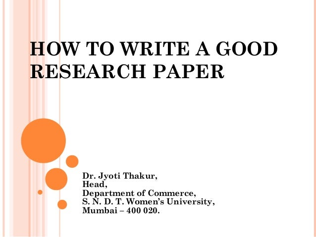 Interesting things to write a research paper on