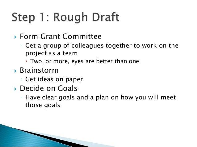 grant writing format