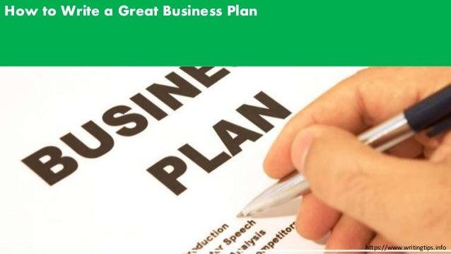 Writting Business Plan