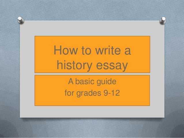 How to write a historiography essay