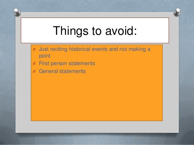 historical events essay Primary sources for historical research make a list of the terms, places, people, and specific events about which you want to find primary resources.